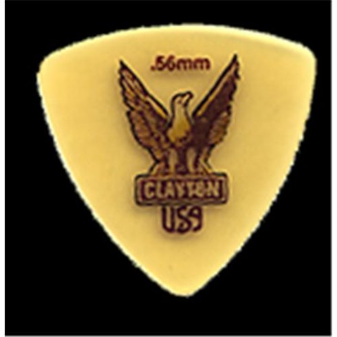 Clayton USA Clayton Ultem Rounded Tri .56mm Pack of 12 Picks