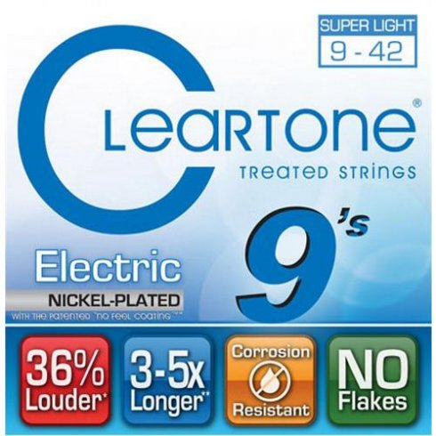 Cleartone 9409 Coated Nickel Wound Electric Guitar Strings 9-42 Ultra Light