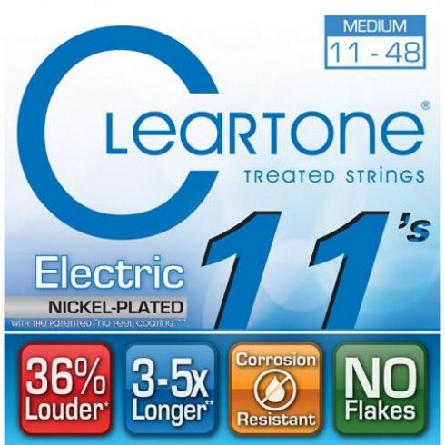 Cleartone 9411 Coated Nickel Wound Electric Guitar Strings 11-48 Medium