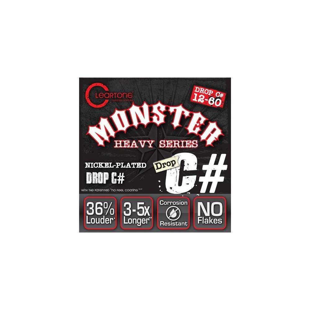 cleartone 9460 monster heavy series drop c 12 60 nps electric guitar strings. Black Bedroom Furniture Sets. Home Design Ideas