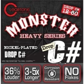 Cleartone 9460 Monster Heavy Series Drop C# 12-60 NPS Electric Guitar Strings