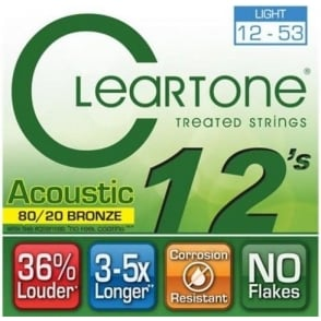 Cleartone 12-53 80/20 Bronze Acoustic Guitar Strings (7612)
