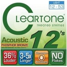 Cleartone 12-53 Phosphor Bronze Acoustic Guitar Strings (7412)