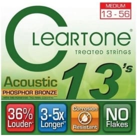 Cleartone 13-56 Phosphor Bronze Acoustic Guitar Strings (7413)