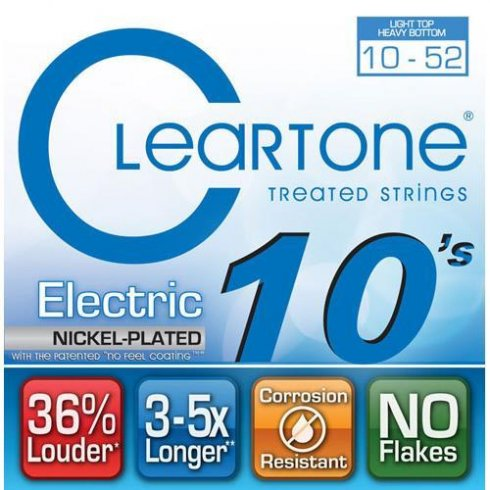 Cleartone 9420 Coated Nickel Wound Electric Guitar Strings 10-52 Light Top/Heavy Bottom