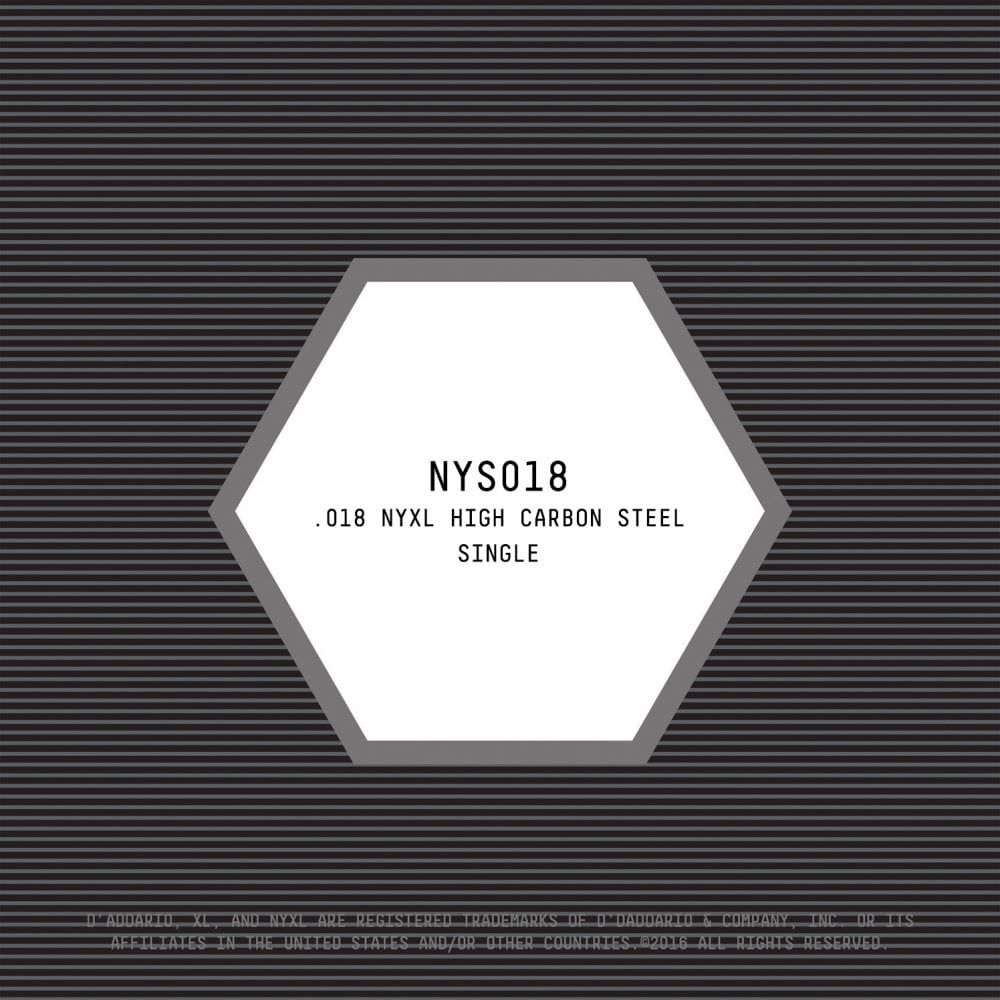 D/'ADDARIO NYS018 SINGLE PLAIN STEEL SINGLESTRING 018