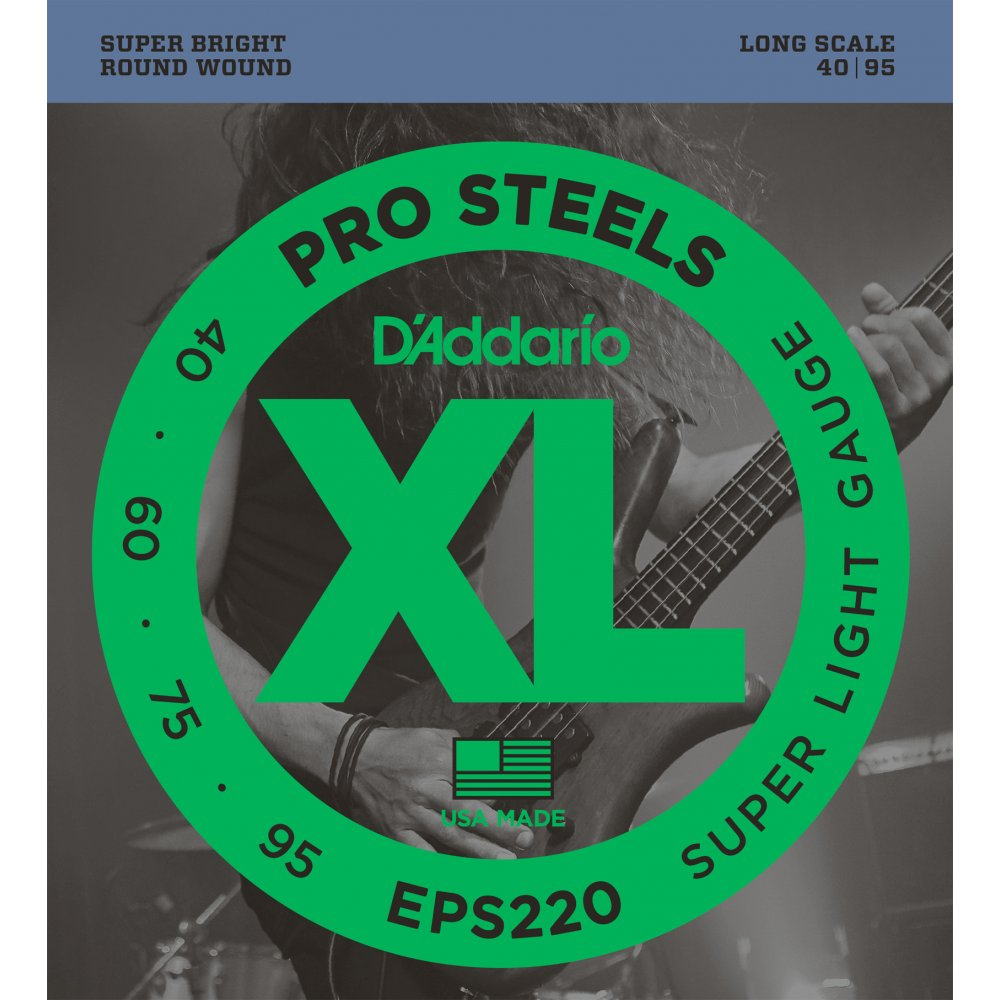 D'Addario EPS220 ProSteel 40-95 Super Li