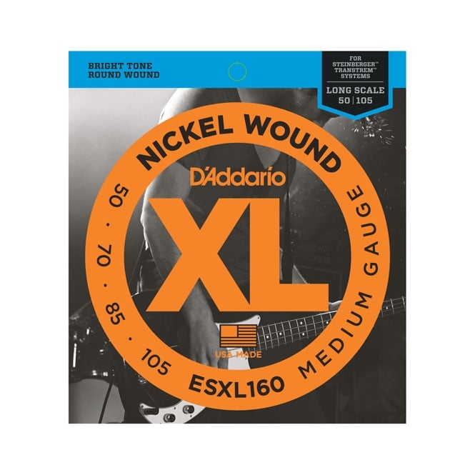 D'Addario 4-String ESXL160 Nickel Wound 50-105 Double Ball End Bass Guitar Strings