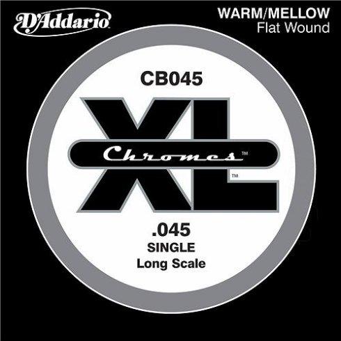 D'Addario CB045 Chromes XL Flatwound Bass Single String .045 Long Scale