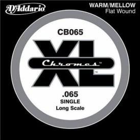 D'Addario CB065 Chromes XL Flatwound Bass Single String .065 Long Scale