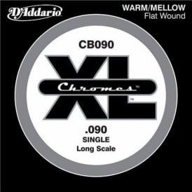 D'Addario CB090 Chromes XL Flatwound Bass Single String .090 Long Scale