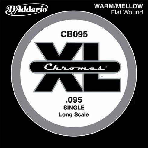 D'Addario CB095 Chromes XL Flatwound Bass Single String .095 Long Scale