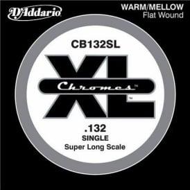 D'Addario CB132SL Chromes XL Flatwound Bass Single String .132 Super Long