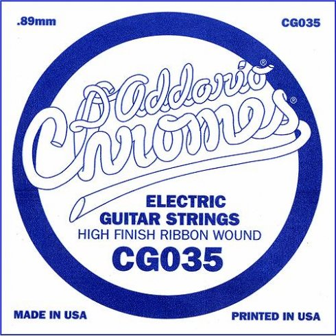 D'Addario CG035 Chromes Flatwound Electric Guitar Single String .035