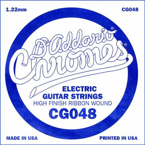 D'Addario CG048 Chromes Flatwound Electric Guitar Single String .048