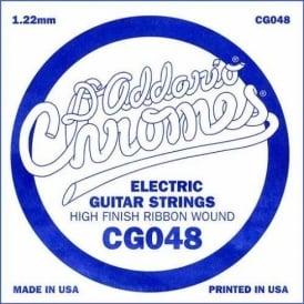 D'Addario CG048 Chromes Flatwound Electric Guitar Single String .048