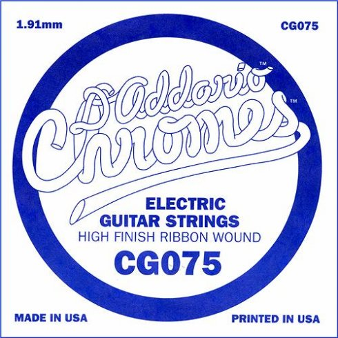 CG075 Chromes Flatwound Electric Guitar Single String .075 Gauge
