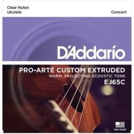 D'Addario EJ65C Pro-Arté Custom Extruded Ukulele Concert Strings GCEA Tuning