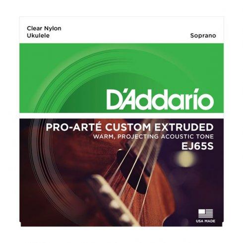 D'Addario D'Addario EJ65S Pro-Arté Custom Extruded Ukulele Soprano Strings ADF#B Tuning