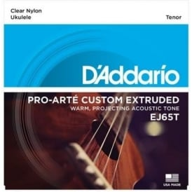 D'Addario EJ65T Pro-Arté Custom Extruded Tenor Ukulele Strings GCEA Tuning