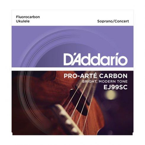 D'Addario D'Addario EJ99SC Pro-Arte Carbon Ukulele Soprano/Concert Strings for GCEA Tuning