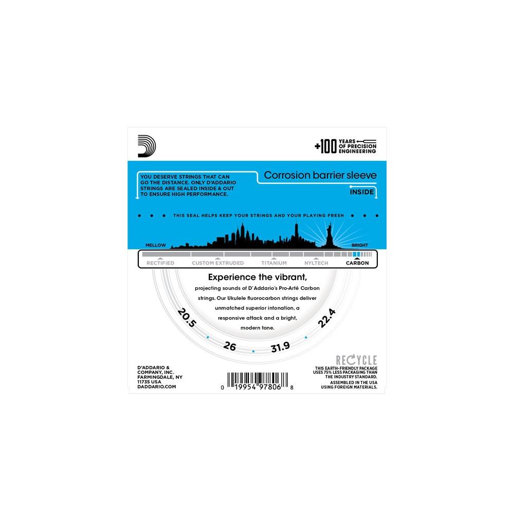 Daddario Ej99t Pro Arte Carbon Ukulele Tenor Strings For Gdea Tuning Diagram Gcea