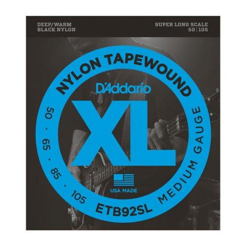 D'Addario 4-String ETB92SL Tapewound 50-105 Super Long Scale Bass Guitar Strings