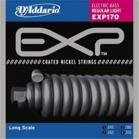 D'Addario 4-String Extended Play EXP170 Bass Guitar Strings 45-100 Light