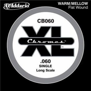 D'Addario CB060 Chromes XL Flatwound Bass Single String .060 Long Scale