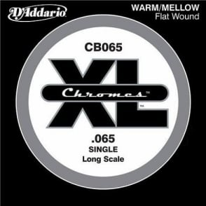 D'Addario CB065 Chromes XL Flatwound Bass Single String .065 Long Scale