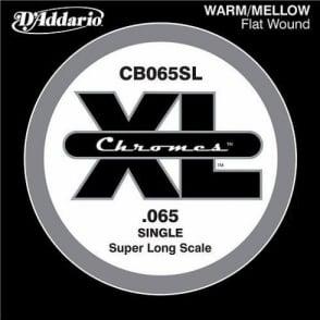 D'Addario CB065SL Chromes XL Flatwound Bass Single String .065 Super Long