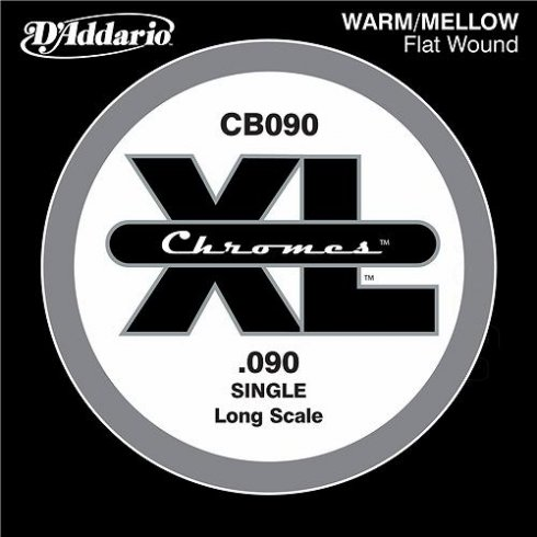 D'Addario CB090 Chromes XL Flatwound Bass Single String .090 Long Scale