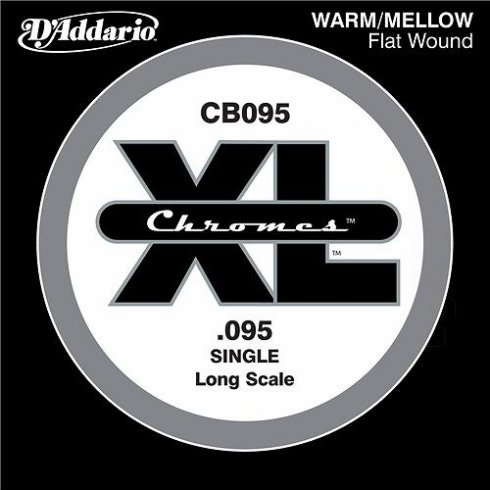 D'Addario CB095 Chromes XL Flatwound Bass Single String .095 Long Scale