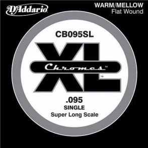 D'Addario CB095SL Chromes XL Flatwound Bass Single String .095 Super Long