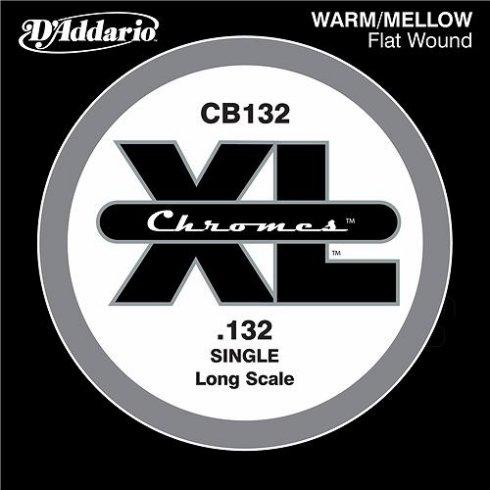 D'Addario CB132 Chromes XL Flatwound Bass Single String .132 Long Scale