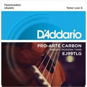 D'Addario EJ99TLG Pro-Arte Carbon Ukulele Tenor Low G Strings for Low G Tuning