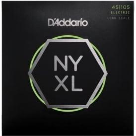 D'Addario 4-String NYXL Bass Guitar Strings 45-105 Gauge - Long Scale NYXL45105