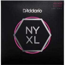 D'Addario 4-String NYXL Bass Guitar Strings - Long Scale 45-100 Gauge NYXL45100