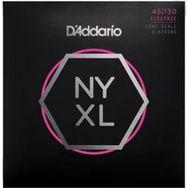 D'Addario 5-String NYXL Bass Guitar Strings 45-130 Gauge Long Scale NYXL45130