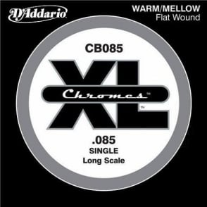 D'Addario CB085 Chromes XL Flatwound Bass Single String .085 Long Scale