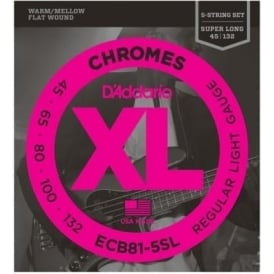 D'Addario ECB81-5SL Chromes XL Bass 045-132 Super Long 5-String