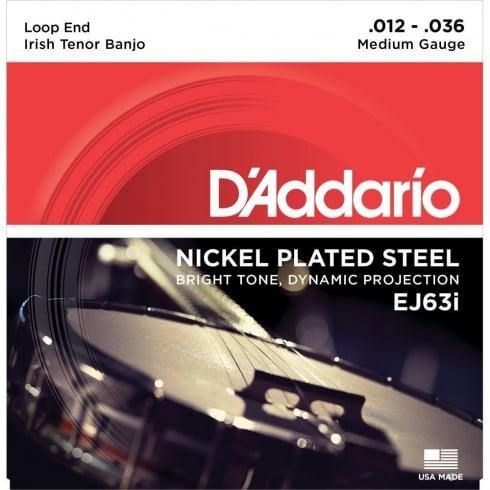 D'Addario EJ63i Nickel Irish Tuning Tenor 4-String Banjo Light Strings, 3-Pack