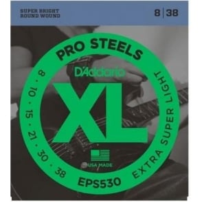 D'Addario EPS530 XL ProSteels Electric Guitars Strings 08-38 Extra Light