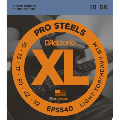 D'Addario EPS540 Stainless Steel 10-52 LTHB Electric Guitar Strings