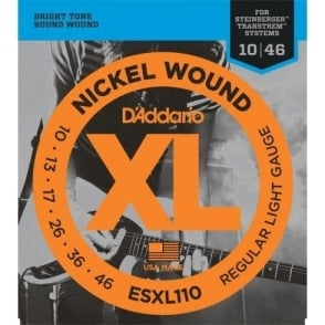 D'Addario ESXL110 Double Ball End 10-46 Regular Light Electric Steinberger Guitar Strings