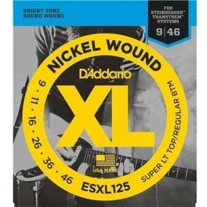 D'Addario ESXL125 Double Ball End 09-46 Electric Steinberger Guitar Strings