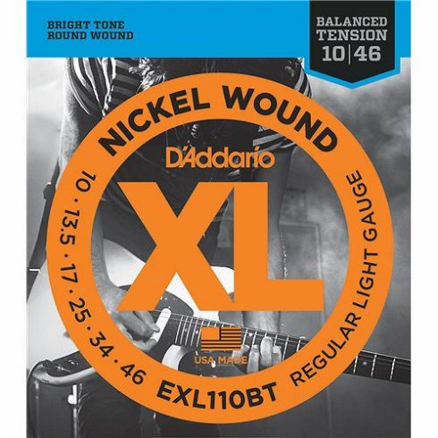 D'Addario EXL110BT Nickel Wound Balanced Tension Electric Guitar Strings 10-46 Light