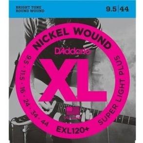 D'Addario EXL120+ Nickel Wound Electric 09.5-44 Super Light Plus Guitar Strings