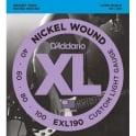 D'Addario EXL190 4-String Nickel Wound 40-100 Long Scale Bass Guitar Strings