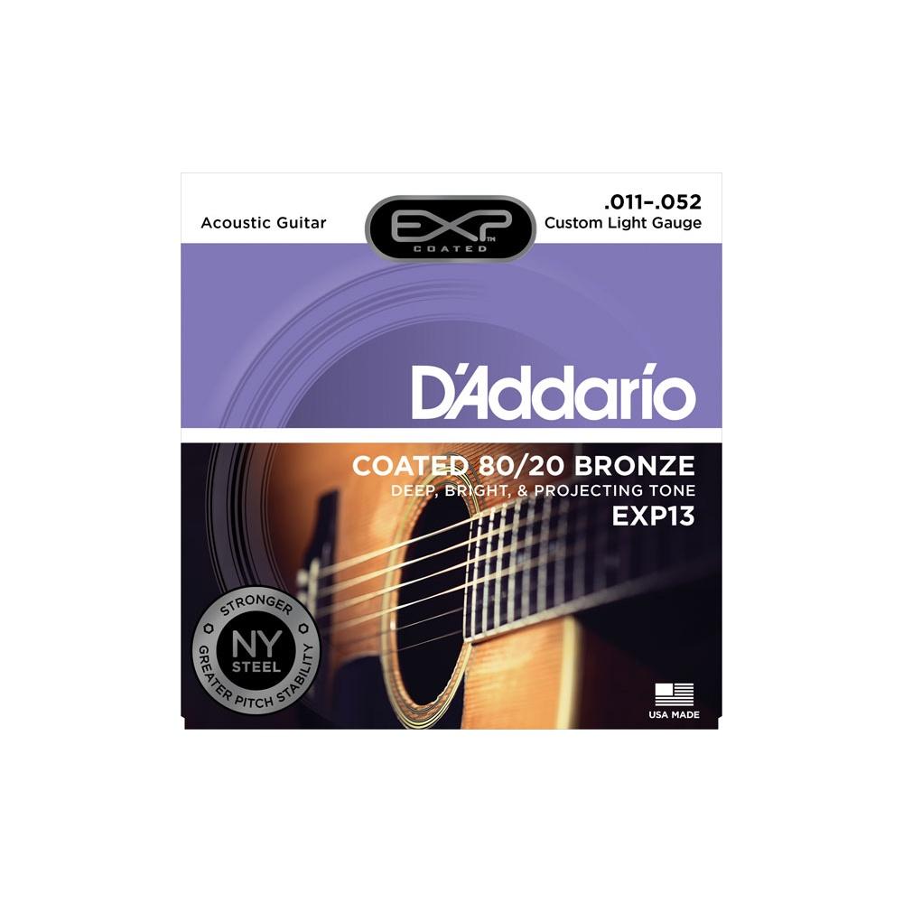 d 39 addario extended exp13 80 20 bronze acoustic guitar strings 11 52. Black Bedroom Furniture Sets. Home Design Ideas